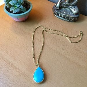 Turquoise Pendent / Gold Chain